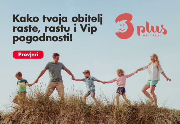 Posebna Vip ponuda za članove udruge Obitelji 3plus