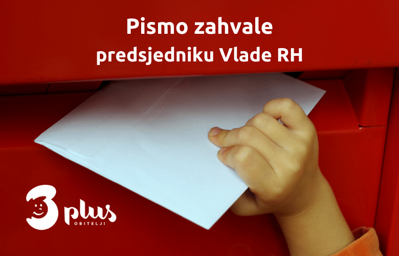 Pismo zahvale predsjedniku Vlade RH