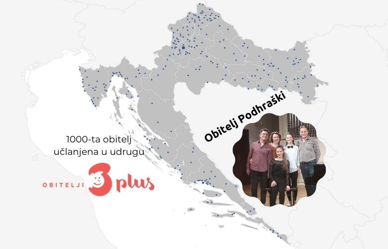Udruga Obitelji 3plus je prešla broj od 1000 učlanjenih obitelji
